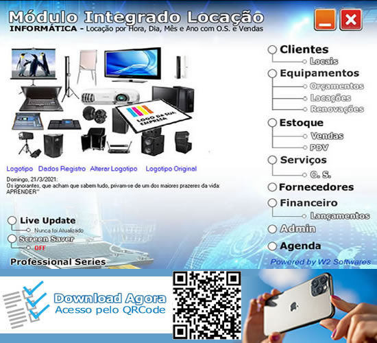 Software Locação de computadores servidores notebooks tablet