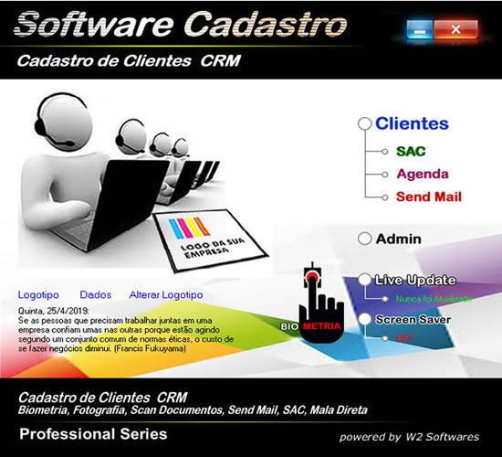 Software cadastro de clientes CRM fotografia