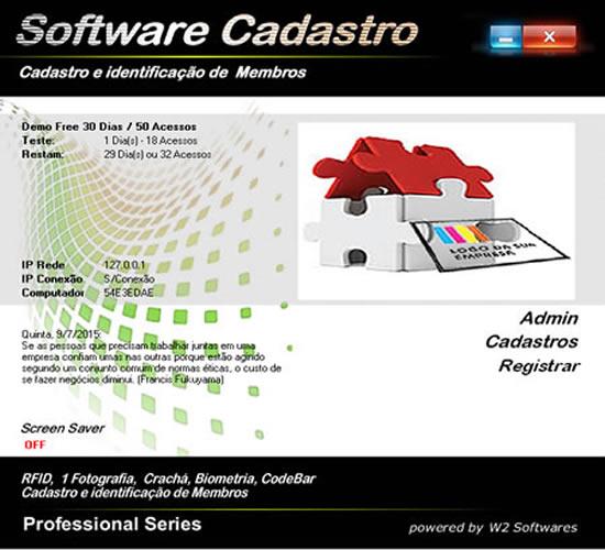 Software cadastro de membros pessoas foto biometria