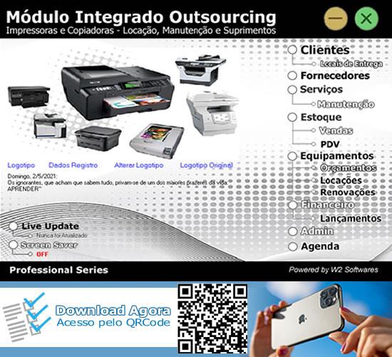 Software Locação de Impressoras copiadoras e O.S. Impressoras