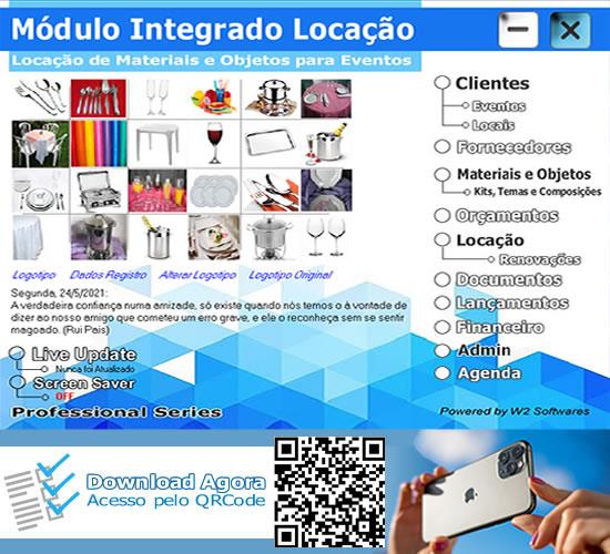 Software Locação de objetos e materiais diversos