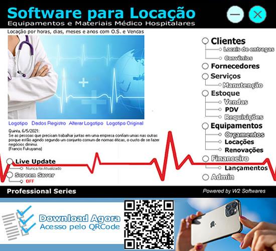 Software Locação de equipamentos médicos hospitalares