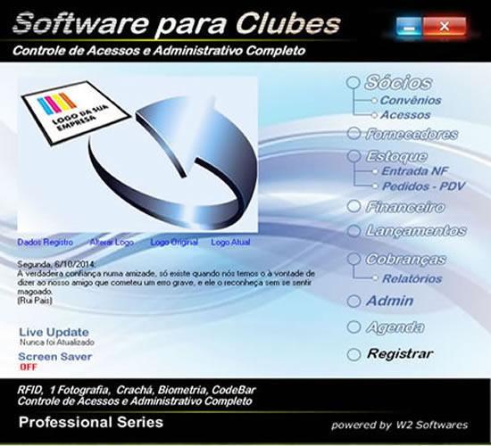 Software para clube clubes portaria controle de acesso financeiro e cobrança