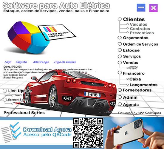Software para auto elétrica pedidos ordem de serviços financeiro