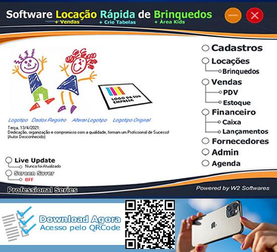 Software Locação Rápida de Brinquedos para shoping