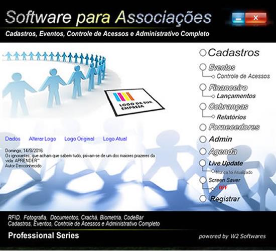 Software para associações cadastro financeiro cobrança e eventos