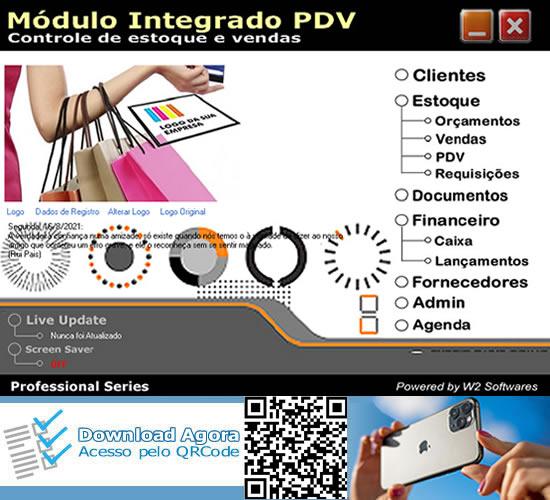 Software de vendas PDV ponto de venda não fiscal PDV