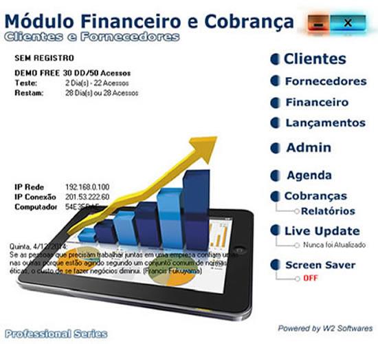 Software financeiro com cobrança boleto recibo
