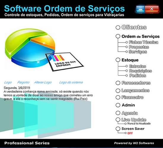Software ordem de serviços apenas para serviços