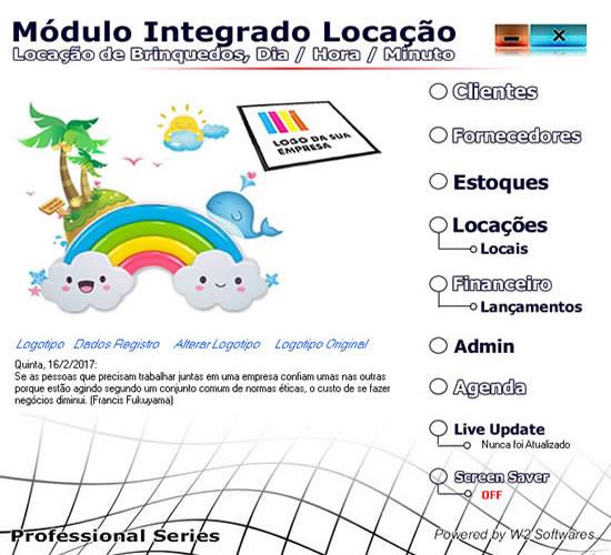 Software Locação de Brinquedos e Infláveis