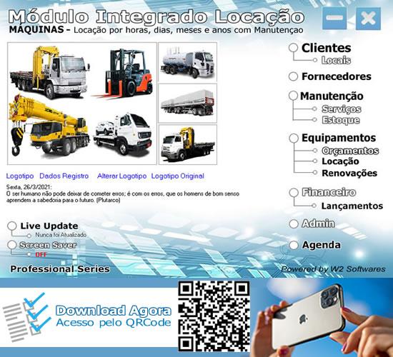 Software locação de munks empilhadeiras trator guinchos caminhão