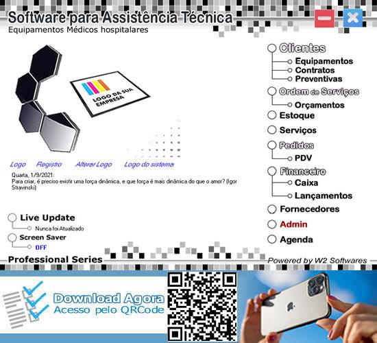Software assistência técnica ordem de serviços para equipamentos médicos hospitalares