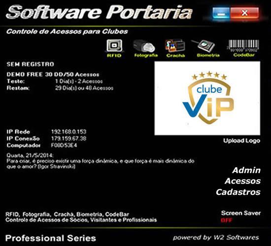 Software Portaria Clube com Controle de Acessos para Clubes Clube