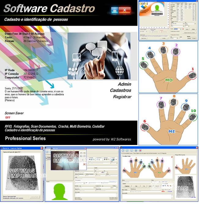 Software cadastro de clientes ou pessoas com foto biometria