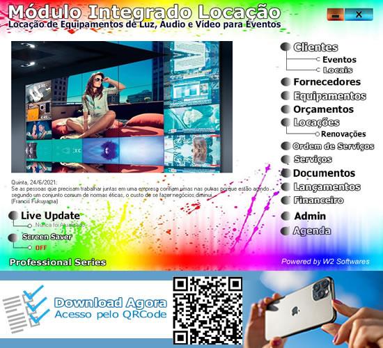 Software locação para eventos e festas  para luz áudio vídeo
