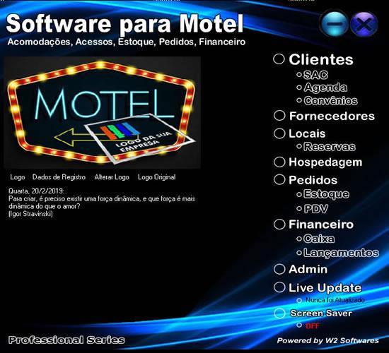 Software para motel pedidos estoque reservas hospedagem caixa