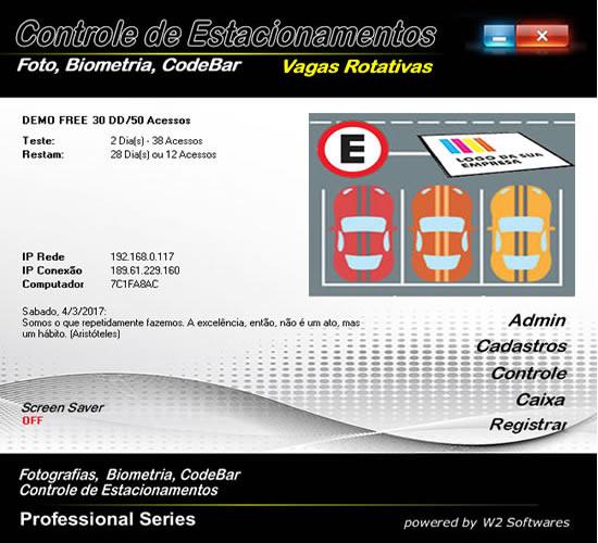 Software para estacionamento com vagas rotativas