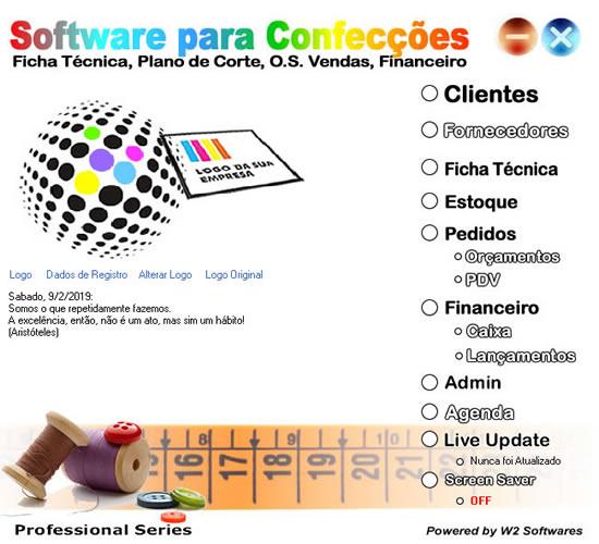 Software confecção controle de estoque e vendas c/ grade