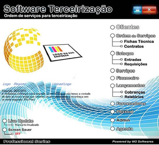 Software de serviços terceirização limpeza e segurança