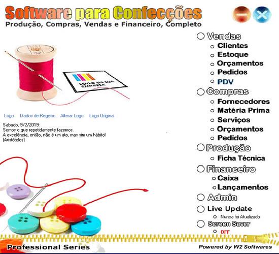 Software para confecções produção e compras para confecção