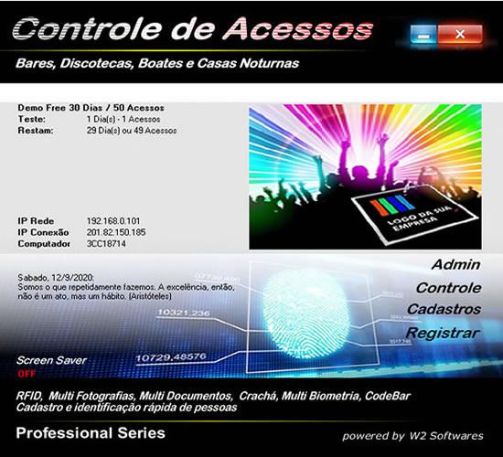 Software controle de acesso bares casas noturnas discotecas