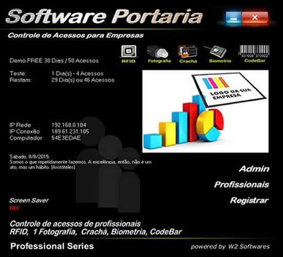 Software controle de acessos de profissionais