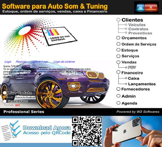Software para serviços de Tuinng loja de som instalações