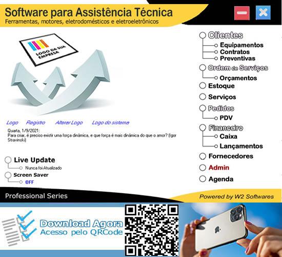 Software Assistência Técnica Ordem de Serviços para Motores Máquinas e Eletrodomésticos