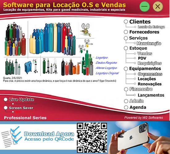 Software Locação de cilindros de gases medicinais