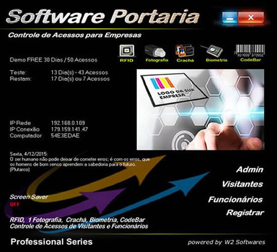 Software Portaria Identificação de Pessoal Sindicato Comitês Político