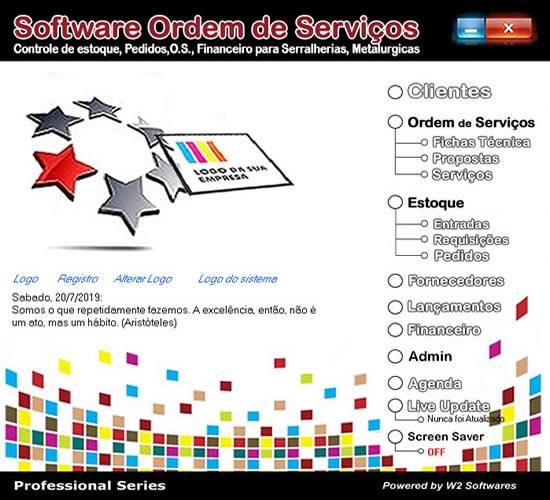 Software ordem de serviços para serralherias metalurgicas